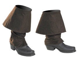 Disguise Men's Disney Of The Caribbean Pirates Adult Boot Covers Costume Accessory