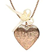 Copper Truth or Dare Heart Locket Necklace