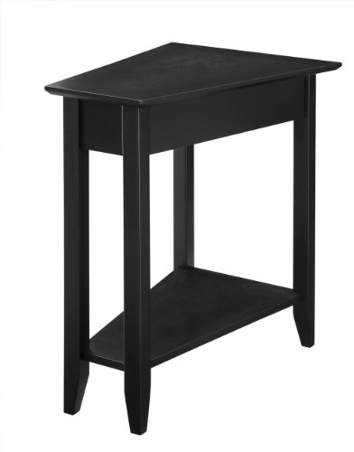 Convenience Concepts 7105060-BL Modern American Heritage Wedge End Table, Black