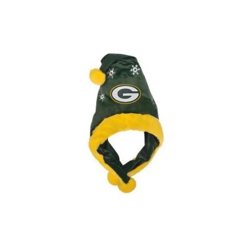 Green Bay Packers NFL Official Team logo Stadium Dangle Santa Hat *NEW ITEM*