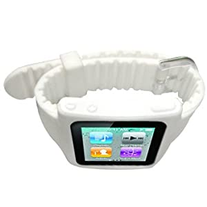 Cbus Wireless White Silicone Sports Watch Band Wrist Strap for iPod Nano 6th / Nano 6G / Nano 6th Gen from Cbus Wireless