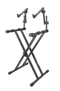 On Stage Stands Pro Double-X ERGO-LOK Keyboard Stand with 2nd Tier