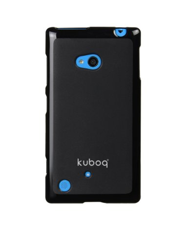 Kuboq Advanced TPU Case for Nokia Lumia 720 Black FREE Screen Protector Cleaning Cloth