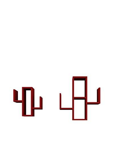 Mobito Design Set Estantería De Pared 2 Uds. Cactus