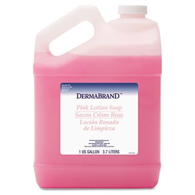 Mild Cleansing Pink Lotion Soap, Pleasant Scent, Liquid, 1 gal Bottle