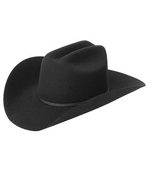 New Country Girls Black Cowboy Stetson Felt Costume Hat