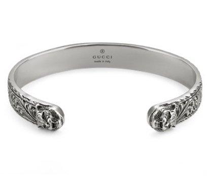 Bracciale Gucci in Argento con testa di Felino YBA433575001