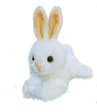 "Baby White Bunny 8"" by Aurora"