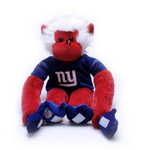 NFL Rally Monkeys Stuffed Animals - New York Giants