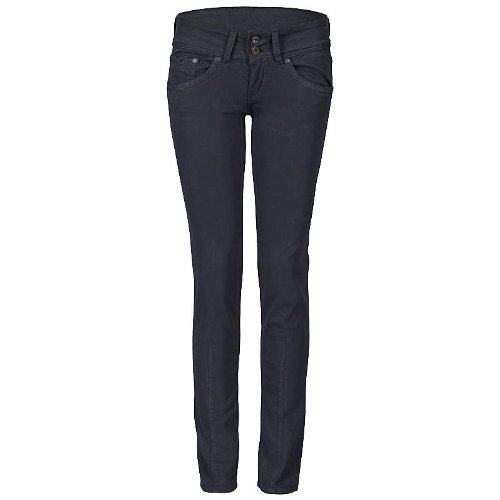 pepe jeans damen jeans canvas brooke anthrazit grau l32. Black Bedroom Furniture Sets. Home Design Ideas