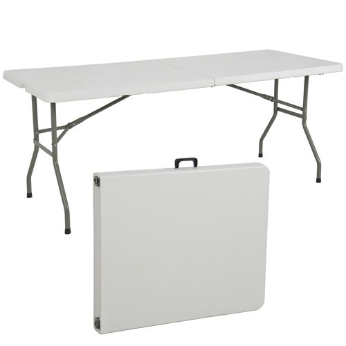 Best ChoiceProducts Folding Table Portable Plastic Indoor