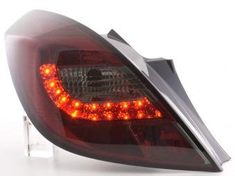 Led Taillights Opel Corsa D 3-Door Yr. 06-10 Red/Black