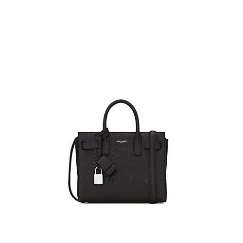(サンローランパリ) Saint Laurent Classic Nano Sac De Jour bag in Black Grained Leather (並行輸入品) LASTERR