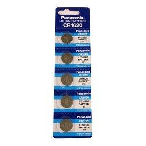 Panasonic Lithium Battery CR1620 Pack of 5 Batteries