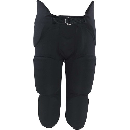 Russell Youth Integrated 7 Piece Pad Economy Football Pants - Black-L