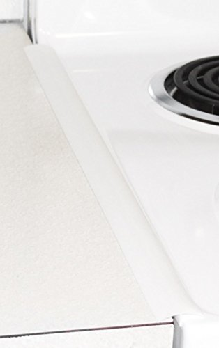 THE BEST Slim Oven Trim - white - countertop gap cover - oven gap seal - (set of 2) - Proprietary Design - Heat Resistant - Less Dust - Narrow design saves counter space - for a cleaner kitchen (Narrow Washer compare prices)