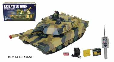  M1A2 Abrams BB R/C Fighting Battle Tank