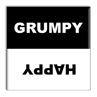 Guajolote Prints Clean Dirty Dishwasher Magnet Grumpy Happy 2.5 X 2.5 Inches front-463414