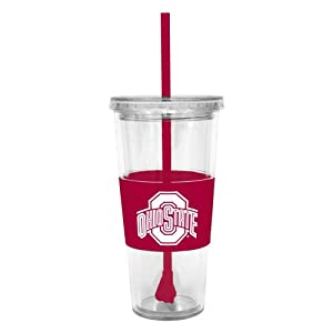 Buy NCAA Ohio State Buckeyes 22 Ounce Insulated Tumbler with Rubber Sleeve and Stir Straw by Boelter Brands