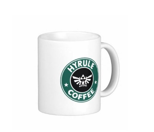 Pair Of Hyrule Coffee Legend Of Zelda Starbucks Pardoy 11 Ounce Coffee Mugs - Custom Coffee / Tea Cups - Dishwasher And Microwave Safe