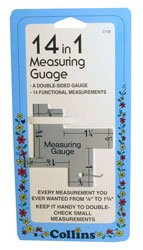 "14 In 1 Measuring Guage-1/8"" To 1-3/4"""