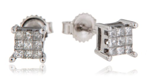 Diamond Earrings in 9ct White Gold