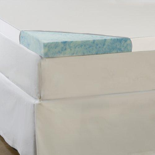 Sleep Comfort 4-Inch Gel Memory Foam Flat Topper, Queen