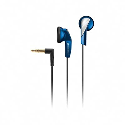 Sennheiser MX 365 Portable Ultralight Earphones with Earpads, 32 Ohms Impedance, 20-20000Hz Frequency Response, 3.5mm Angled Plug, Blue
