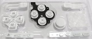 Sony Psp 3000 Series Button Set - White [Customize] [Repair Part] [Video Game][Bulk Packaging] front-313646