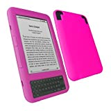 7dayshop Durable Soft Silicone Case Cover for Amazon Kindle 3 - DARK PINKby 7dayshop