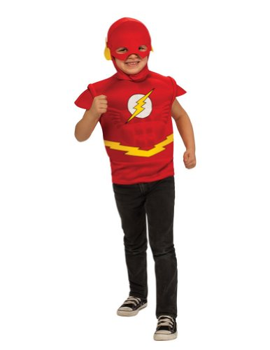 Kids-Costume Flash Muscle Shirt With Mask Child Costume Halloween Costume