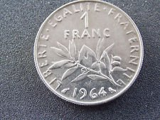 1964 FRENCH 1 FRANC - 1