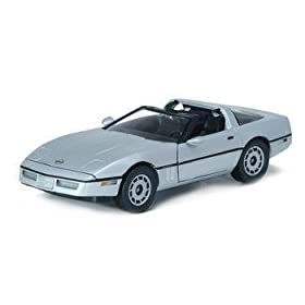 diecast car: 1/18 Diecast 1984 Corvette James Bond 007 Car From view To A Kill Movie