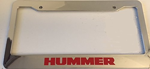 Hummer - Automotive Chrome with Red Automotive License Plate Frame -H1 H2 H3 Off Road Love Hummers (Hummer H2 License Plate Frame compare prices)