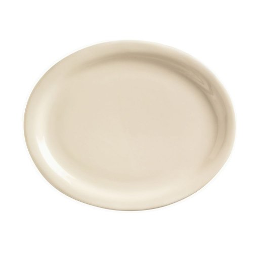 World Tableware Nr-13 Kingsmen White Nr Oval Platter - 12 / Cs