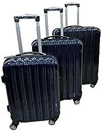 Toyop ABS Polycarbonate Luggage Bag_Dark Blue(Set Of 3)