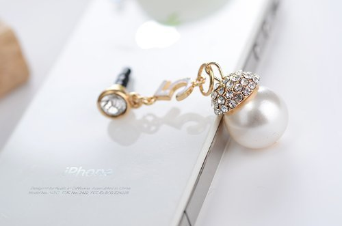 Minisdesign Crystal Pearl Earphone Jack / Dust Plug For Apple Iphone 4, 4S Minisdesign Packing