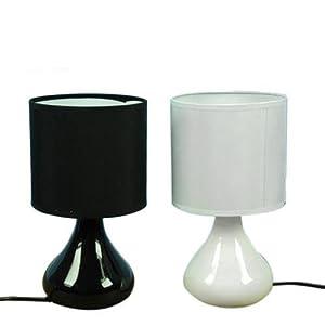 Lampada lume da comodino tavolo moderna tonda 26 cm arredo for Arredo casa amazon