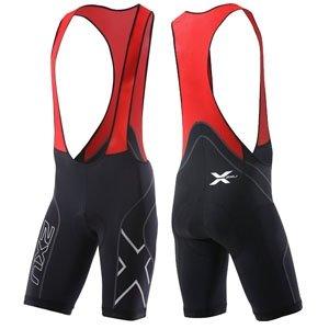 2Xu Men'S Compression Cycle Bib Shorts, Black/Red, Large