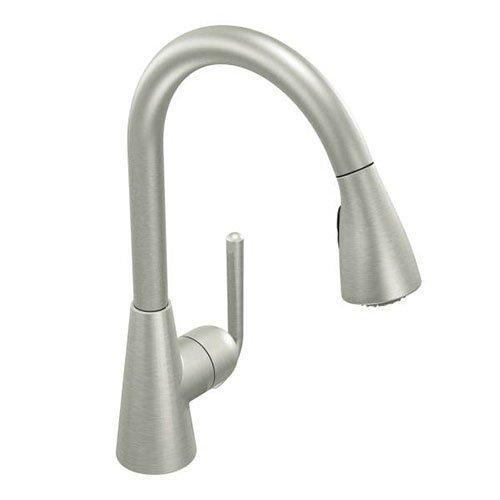 Moen S71708CSL Ascent One-Handle High Arc Pulldown Kitchen Faucet Featuring Reflex, Classic Stainless (Moen Ascent Kitchen Faucet compare prices)