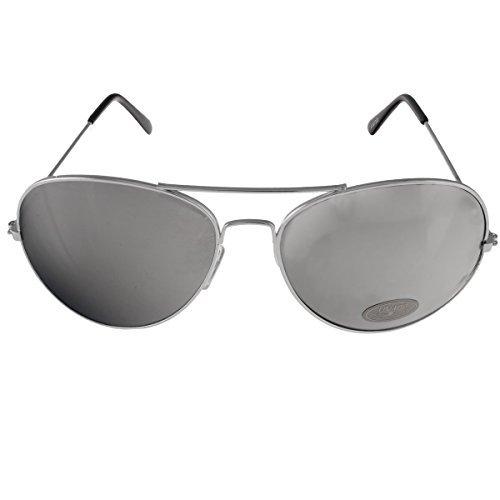 Pilotenbrille Smoke Silver Flash Mirror Sonnenbrille