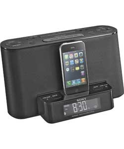 sony xdr ds12 dab docking iphone alarm clock radio. Black Bedroom Furniture Sets. Home Design Ideas