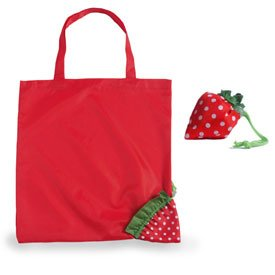 Collapsible Nylon Tote Bag Strawberry