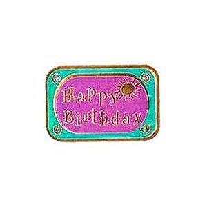 HAPPY BIRTHDAY SUN Embossed Stickers; 60ct