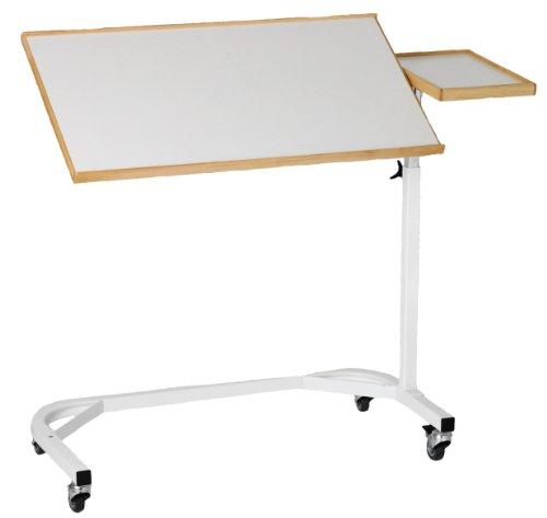 Nordic-2-x-groe-Wei-Betttisch-mit-Seite-Board