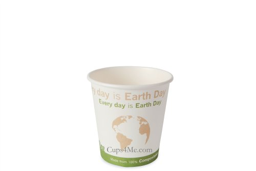10Oz. Compostable Pla Hot Paper Cup/1000 Ct.