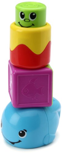 Fisher-Price Stack 'n Surprise Blocks Peek-a-Boo Whale - 1