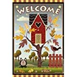 Birdhouse Welcome Autumn Garden