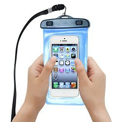 Waterproof Case,WISZEN Universal Waterproof Case Bag for Apple iPhone 6 6 Plus 5S 5C 5, 4, 4S, 3G, 3GS, / Samsung Galaxy S5, S4, S4 Active, S4 Mini, S3, S3 Mini, S2, iPod Touch 3, 4, 5 / HTC ONE X, ONE S Z520E, Windows Phone 8X (AT&T, T-Mobile, Verizon) /