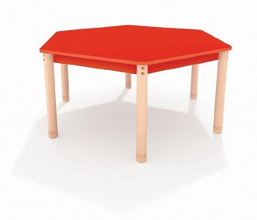 "Tisch sechseckig ""Happy Color"" 143 cm, farbig grün"